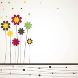 Background with flowers. Vector illustration Stock Photos