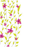 Background with flowers. Vector illustration Royalty Free Stock Image