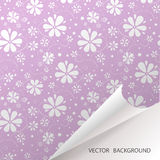 Background with flowers. Vector pattern Stock Photography