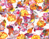 Background with flowers. Background with watercolor flowers illustration stock illustration