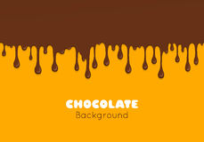 Background of flowing dark chocolate. Stock Images