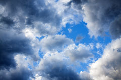 Background from fluffy clouds in the sky Royalty Free Stock Images
