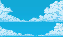 Background of fluffy cumulus clouds. Horizontal seamless background of fluffy cumulus clouds Stock Image