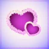 Background with fluffy hearts. Stock Photos