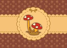 Background with fly-agaric Stock Images