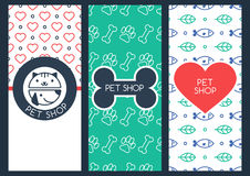 Background, flyer or banner template for pet shop or veterinary Stock Images