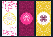 Background, flyer or banner template for for yoga studio, beauty Royalty Free Stock Photography