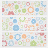 Background for flyers with colorful gears Stock Photography