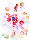 Background with flying away balls Royalty Free Stock Images