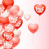 Background with flying balloons in the shape of a Royalty Free Stock Image