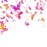 Background of flying butterflies Royalty Free Stock Images