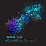 Background flying colored cubes in space.vector illustration Royalty Free Stock Image