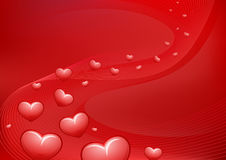 Background Flying hearts.  Valentine's Day Royalty Free Stock Photo