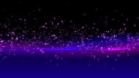 Background flying particles stock footage