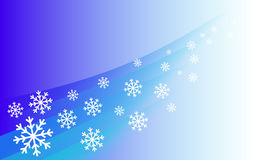 Background flying snowflakes Royalty Free Stock Photography
