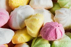 Background food from colorful meringues Royalty Free Stock Photos