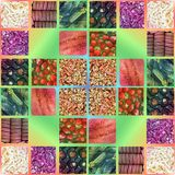 Background from food. Photo collage.  stock images