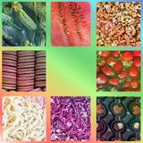 Background from food. Photo collage royalty free stock photos