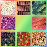 Background from food. Photo collage stock photography