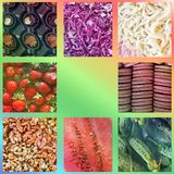 Background from food. Photo collage.  royalty free stock photos