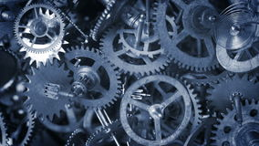 A background footage contained of different vintage watch components stock footage