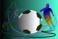 Background football art Royalty Free Stock Photography
