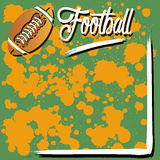 Background with football Stock Photo
