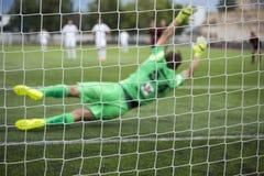 Background of football goalkeeper Royalty Free Stock Image