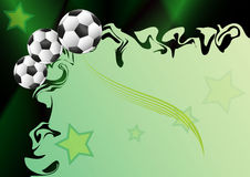 Background with football motif. Sport background with football motif Royalty Free Stock Photography