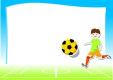 Background with football theme Royalty Free Stock Image