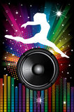 Background For Disco Flyers With Black Speaker Stock Images