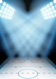 Background For Posters Night Ice Hockey Stadium In Royalty Free Stock Photo