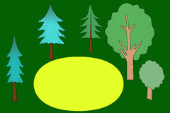 Background forest cartoon Royalty Free Stock Photo