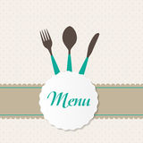 Background with Forks, Spoons end Knifes. Vector Royalty Free Stock Photography