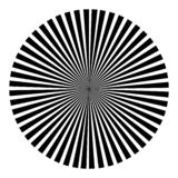 Background in the form of a black ball of rays vector illustration