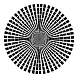 Background in form of black rays in the shape of a circle on a white background. Vector illustration for web design stock illustration