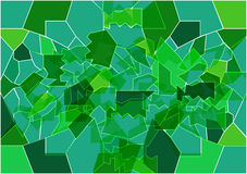 The background in the form of broken green glass,stained glass Stock Images