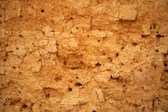 Background in the form of the cracked clay wall Royalty Free Stock Photography