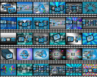 Background in the form of film. With different frames for designers for various necessities Royalty Free Stock Image