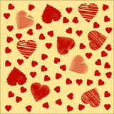 Background in the form of hearts Stock Photography