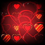 Background in the form of hearts Royalty Free Stock Photo