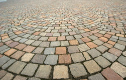 Background in the form of paving bricks Stock Photo