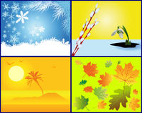 Background in the form of the seasons Royalty Free Stock Images