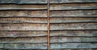 Background in the form of a wall of old wooden stock photo