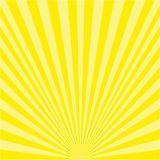 Background of yellow rays stock illustration