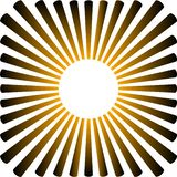 Background in the form of a yellow sun with rays royalty free illustration