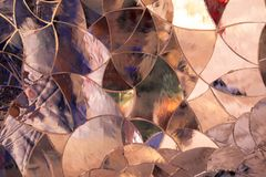 Background formed by colored glass pieces joined together like a Stock Photo