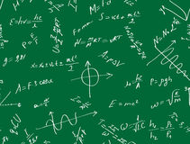 Background with formulas Stock Image