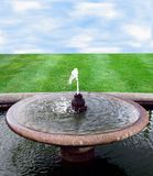 Background with fountain Stock Images