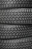 Background of four car wheel winter Stock Photo